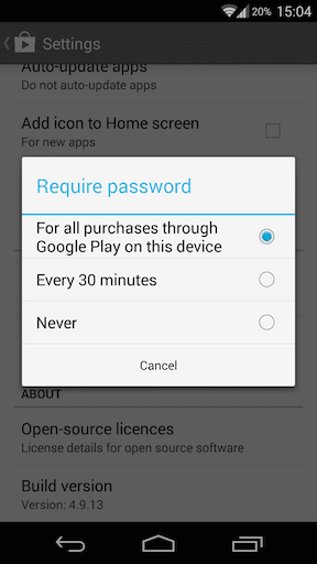 How to disable in-app purchases on the Play Store