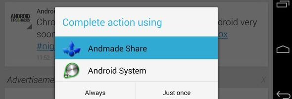 Clean up and edit the Android Share menu