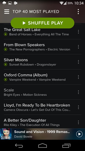 Itunes playlist in spotify mobile
