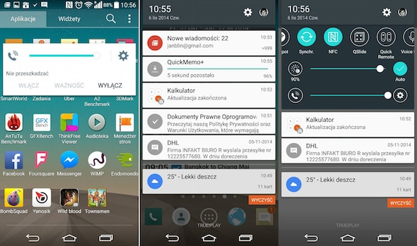 Leaked LG G3 Lollipop screenshots from Life's Good Blog