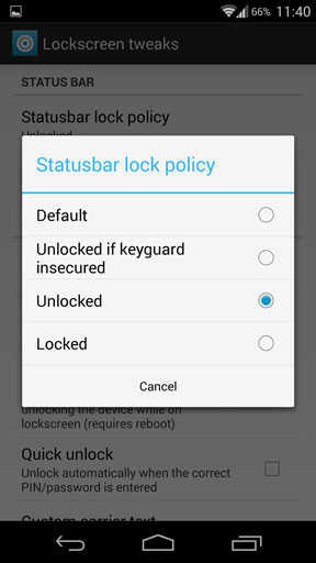 Gravitybox statusbar lock