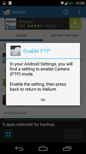 Helium enable ptp