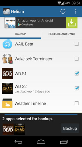 Helium select apps