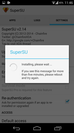 Install supersu