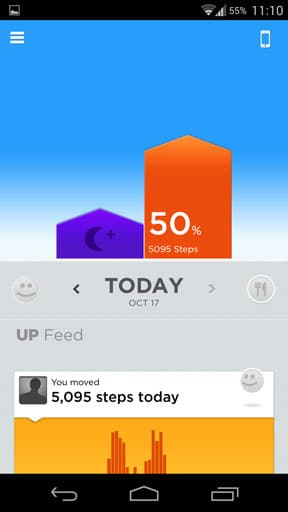 Up jawbone main screen