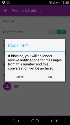 Block Unwanted Texts With Android S New Messaging App